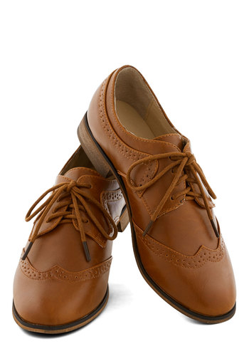 Quizzi-cool Activity Flat by Chelsea Crew - Low, Faux Leather, Tan, Solid, Menswear Inspired, Better, Lace Up, Gifts Sale