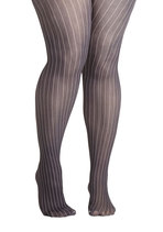 Earn Your Pinstripes Tights in Plus Size