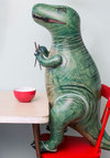 The Rex is History Inflatable - Green, Dorm Decor, Quirky, Nifty Nerd, Good, Print with Animals, Halloween, Top Rated