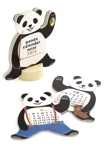Year of the Critter 2014 Mini Calendar in Panda - Multi, Kawaii, Good, Variation