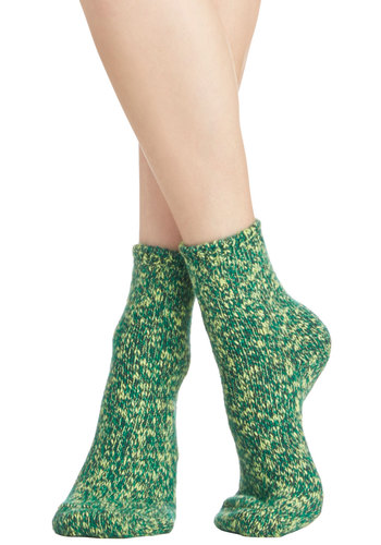 Keep the Chill Out Socks in Green - Knit, Green, Fall, Winter, Good, Casual, Variation