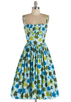 What a Dahlia Dress in Leaves