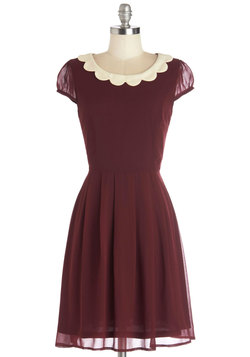 Surprise Me Dress in Burgundy