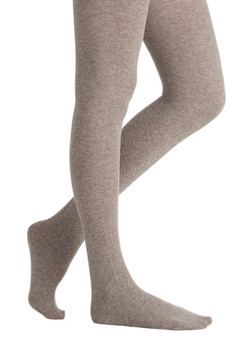 Cozy Collaborating Tights - Knit, Tan, Solid, Fall, Winter, Better, Variation, Basic