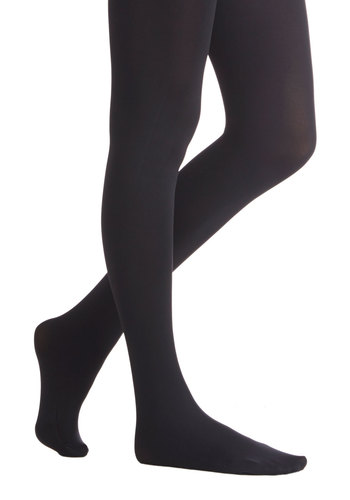 Met with Warmth Tights - Black, Solid, Fall, Winter, Better, Basic, Knit