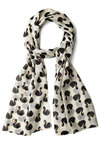 Park to Park Scarf by Disaster Designs - Cotton, Sheer, Woven, White, Orange, Black, Print with Animals, Better, International Designer