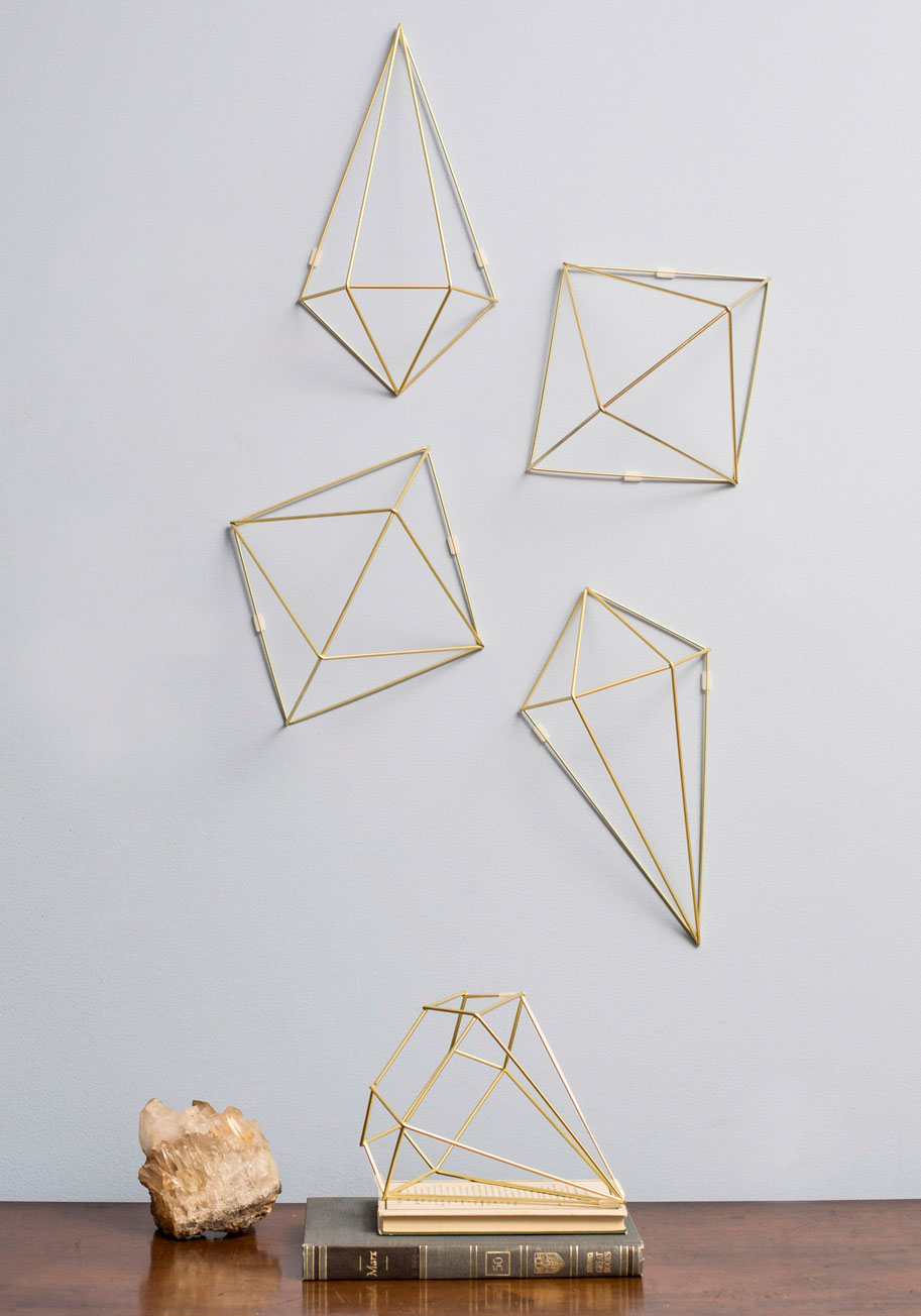 Gold R Wall Decor : Abode well wall decor in gold mod retro vintage