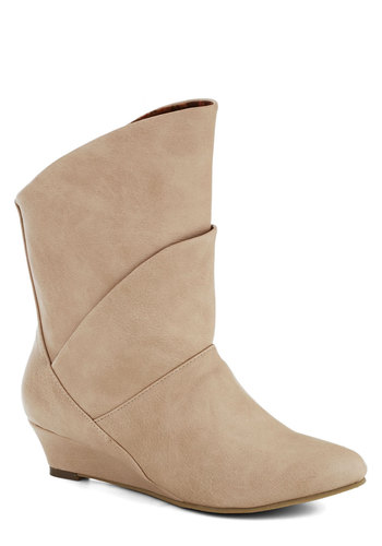 Bourbon Explorer Boot in Champagne by Bait Footwear - Low, Faux Leather, Solid, Better, Cream, Vintage Inspired, Variation