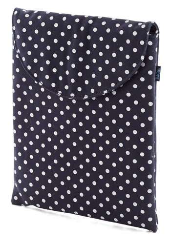 So Fresh and Serene iPad Case in Dots by Baggu - Blue, White, Polka Dots, Travel, Variation, Cotton, Work, Eco-Friendly, Woven
