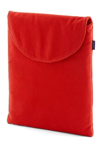 So Fresh and Serene iPad Case in Red by Baggu - Red, Solid, Travel, Variation, Basic, Cotton, Work, Eco-Friendly, Woven