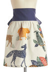 Forest Course Meal Apron - Multi, Print with Animals, Better, Woven