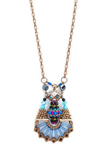 The Future Looks Bright Necklace - Blue, Multi, Gold, Solid, Beads, Luxe, Statement, Better