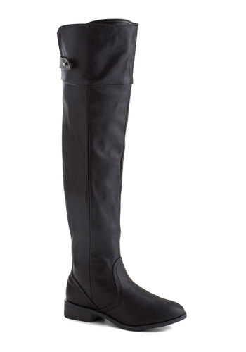 Arts Fellow Boot - Black, Solid, Low, Chunky heel, Faux Leather, Fall, Winter, Basic