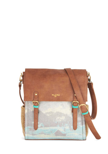 Mountaintop Lodge Bag by Nice Things - Tan, Multi, Novelty Print, International Designer, Faux Leather