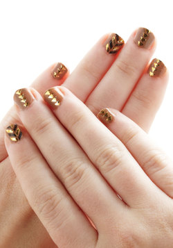 Glitz and Glam Nail Tattoos