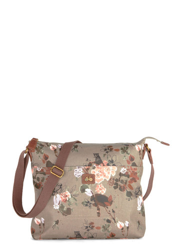 Elegant Excursionist Bag by Nica - Grey, Multi, Floral, International Designer, Woven