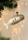 Sea-son's Tidings Ornament in White Whale - White, Good, Holiday