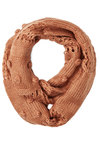 Mint to Charm Circle Scarf in Butterscotch - Knit, Orange, Solid, Fall, Winter, Better, Knitted, Casual