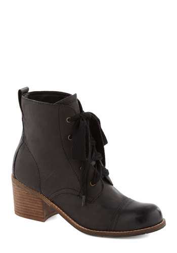 Graham Cracker Crumble Boot in Black by Dolce Vita - Mid, Leather, Black, Solid, Best, Lace Up