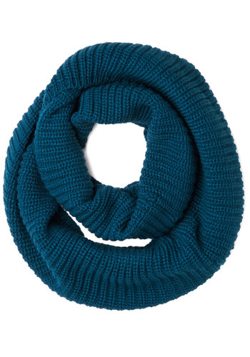 Dressed to Chill Circle Scarf in Marine - Knit, Blue, Solid, Fall, Winter, Good, Variation, Basic, Knitted