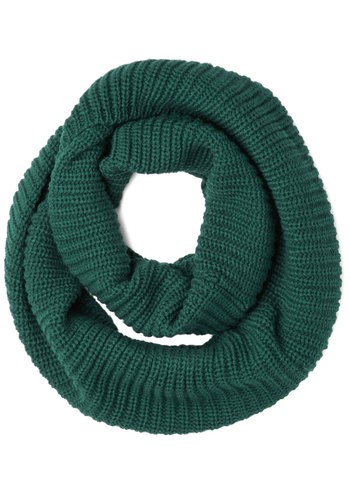 Dressed to Chill Circle Scarf in Evergreen - Knit, Green, Solid, Fall, Winter, Good, Variation, Basic, Knitted, Holiday