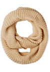 Dressed to Chill Circle Scarf in Oatmeal - Knit, Solid, Fall, Winter, Good, Variation, Basic, Cream, Knitted