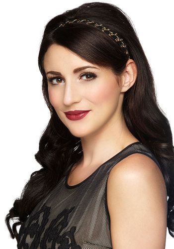 Alluringly Aureate Headband - Solid, Good, Black, Gold, Party