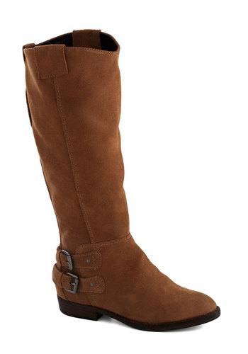 Charlotte of Love Boot by Dolce Vita - Low, Leather, Tan, Solid, Buckles, Rustic, Fall, Suede