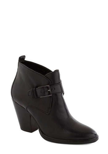 Lisbon There Bootie - Mid, Leather, Black, Solid, Buckles, Best