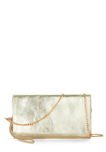 Luxe Great to Me Clutch - Gold, Solid, Special Occasion, Better, Leather, Cocktail, Holiday Party, Luxe