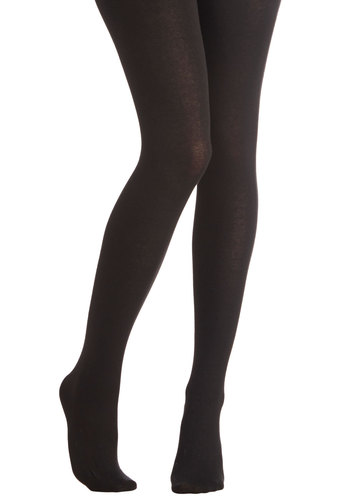 Truly Trustworthy Tights in Black - Knit, Black, Solid, Casual, Fall, Winter, Better, Variation, Basic