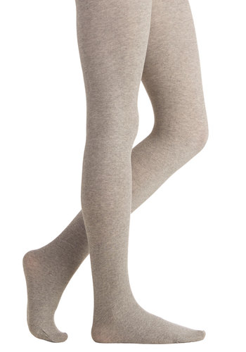 Truly Trustworthy Tights in Grey - Knit, Grey, Solid, Casual, Fall, Winter, Better, Variation, Basic
