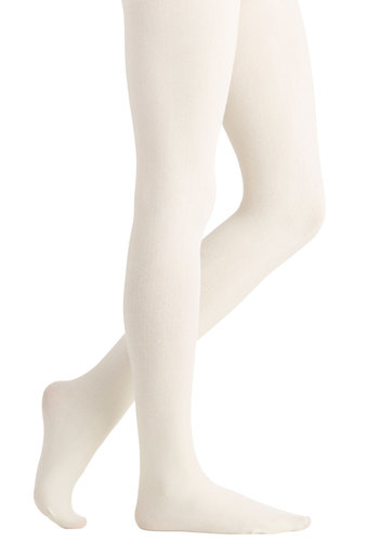 Truly Trustworthy Tights in Ivory - Knit, Cream, Solid, Casual, Fall, Winter, Better, Variation, Basic