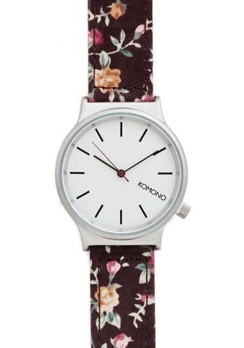 Matter of Timeless Watch in Flowers - Black, Multi, Floral, Casual, Silver, Better, Variation