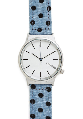 Matter of Timeless Watch in Dots - Blue, Black, Polka Dots, Casual, Better, Silver, Variation