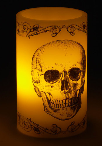 Flame and Fortunate Candle - Multi, Skulls, Good, Halloween