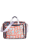 Frame or Shine Messenger Bag - Woven, Orange, Multi, Print with Animals, Casual, Best, Kawaii, Travel, Quirky, Work