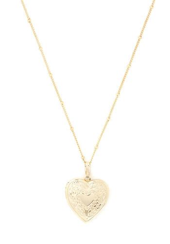 Be Still My Locket Necklace - Gold, Solid, Beads, Graduation, Bridesmaid, Gold, Valentine's, Top Rated