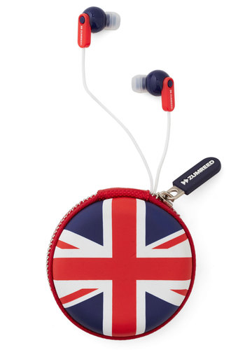 Thank Queue Earbuds - Multi, Good, Red, Blue, White, Novelty Print, Travel
