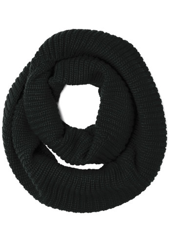 Dressed to Chill Circle Scarf in Black - Knit, Black, Solid, Casual, Fall, Winter, Good, Variation, Basic, Knitted