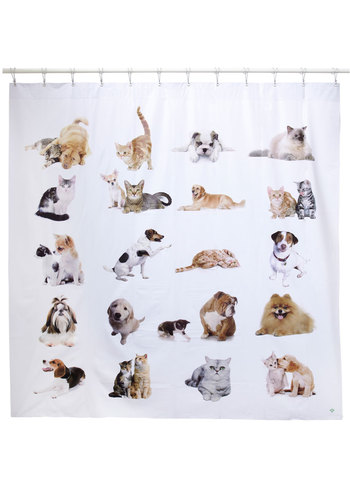 Best Suds Shower Curtain - Multi, Print with Animals, Quirky, Cats, Better, Gifts Sale, Critters, Dog