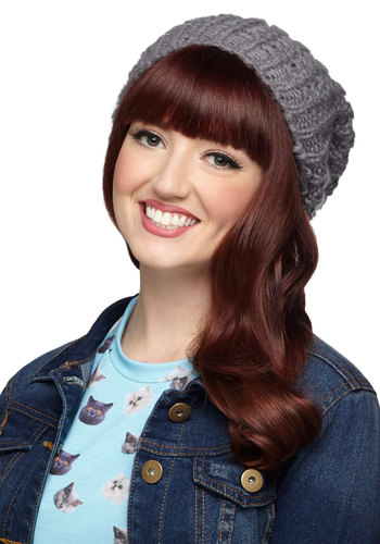 Beignet or Nay Hat in Grey - Grey, Solid, Knitted, Casual, Variation, Knit, Fall, Winter