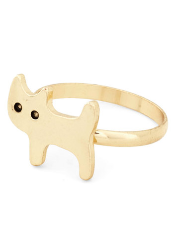 How Mew You Do? Ring - Gold, Black, Print with Animals, Cats, Kawaii, Gold, Exclusives