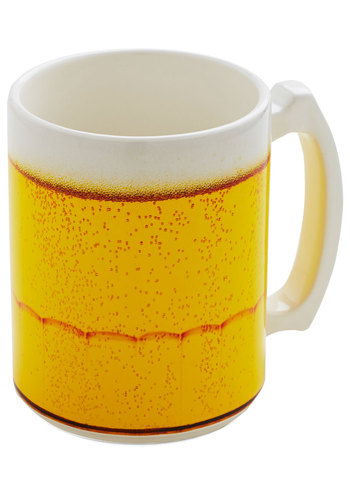 Rise and Stein Mug by One Hundred 80 Degrees - Quirky, Good, Yellow, White, Novelty Print