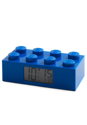 Block of Time Clock - Blue, Dorm Decor, Nifty Nerd, Better, Solid, 90s, Guys