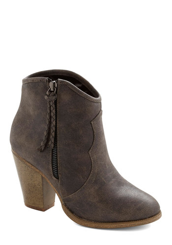 Savvy Senses Bootie - Brown, Solid, Better, Mid, Faux Leather