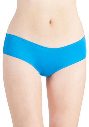 True and Blue Undies - Knit, Blue, Solid, Seamless, Basic