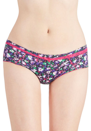 Energetic All Day Undies - Multi, Pink, Floral, Bows, Trim, Knit