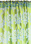 Shed Some Limelight Curtain by Karma Living - Green, Blue, French / Victorian, Better, Woven, Print