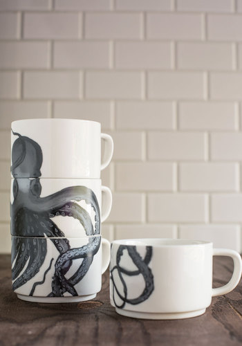 Tentacle Spectacular Mug Set by IMM Living - Multi, Nautical, Better, Print with Animals
